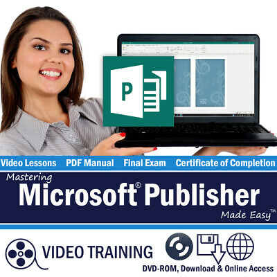 Learn Microsoft PUBLISHER 2016 2013 Training Tutorial Course 64 Video Lessons