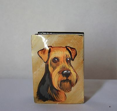 Mini box. High quality. Hand-painted  Welsh Springer Spaniel