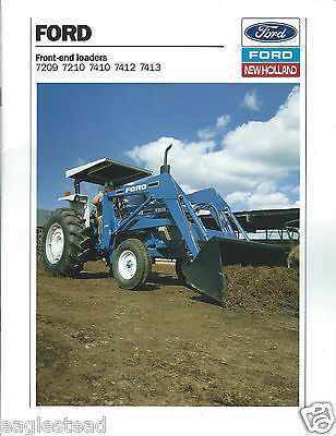 Farm Equipment Brochure - Ford - 7209 7210 7410 7412 7413 Loader 1989 (F4192)