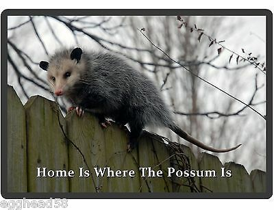 Funny Home Is Where The Possum Is Refrigerator / Locker  Magnet