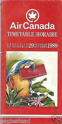 Airline Timetable - Air Canada - 29/10/89