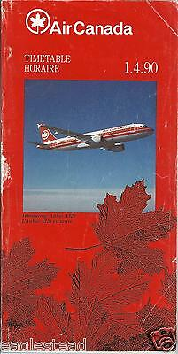 Airline Timetable - Air Canada - 01/04/90 - A320 introduction cover