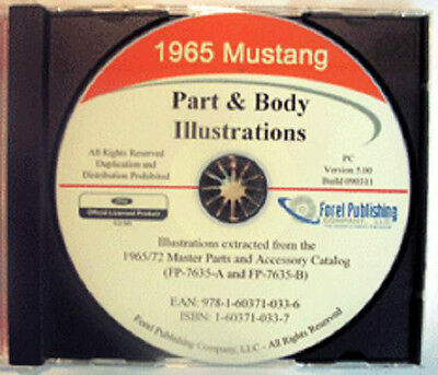 1965 Mustang Parts & Body Illustrations Manual On Cd 65