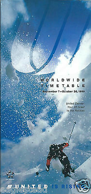 Airline Timetable - United - 07/09/99