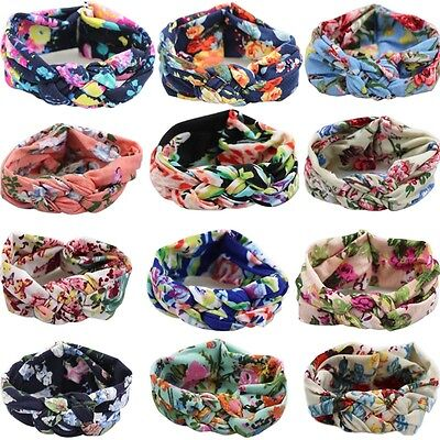 Baby Toddler Girl Kids Cotton Hairband Turban Knot Cross Headband Headwear Hot