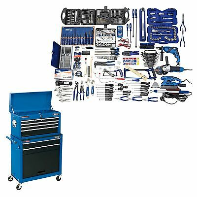 Draper Workshop Professional Tool Kit & Combined Roller Cabinet Chest - 51286