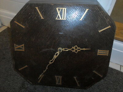 Rare Vintage 1940 50's Smiths Sectric Large Wooden Wall Clock Octagonal Shaped