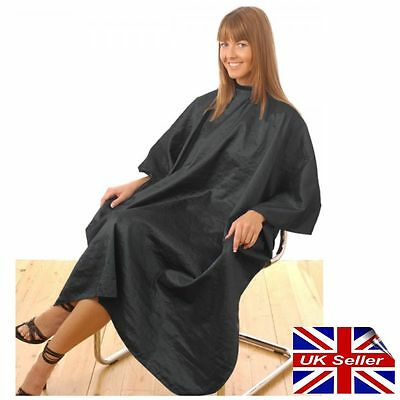 Unisex Hairdressing Cape Gown Black Hair Tools With Poppers. Barbers. Code 61308