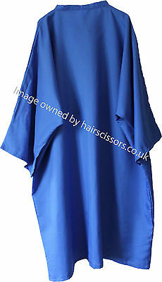 Hairdressing Gown Cape With Sleeves Tie Neck BLUE. Polyester. Code Dolly