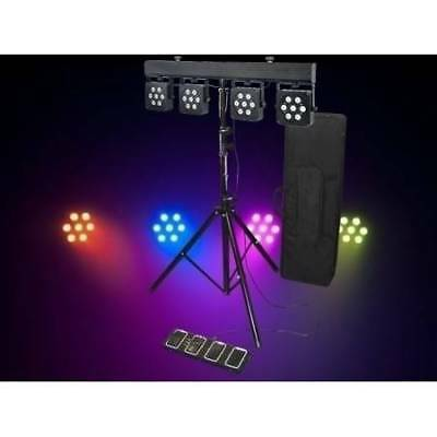 Light Emotion LED PARBAR3TRI - 4 lights stand bag controller