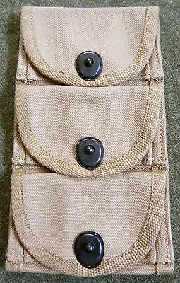 Wwi Wwii Us M1917 Revolver Pistol 3 Cell Ammo Pouch-Od#9