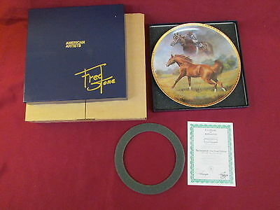 Ron Turcotte Up Secretariat Gold Signature Edition Plate COA Box By Fred Stone