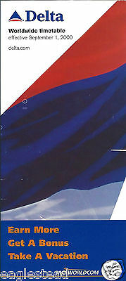Airline Timetable - Delta - 01/09/00
