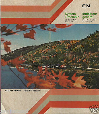 Railroad Timetable - Canadian National - 26/10/75