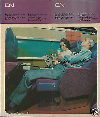 Railroad Timetable - Canadian National - 28/04/74