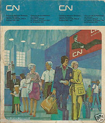 Railroad Timetable - Canadian National - 27/04/75