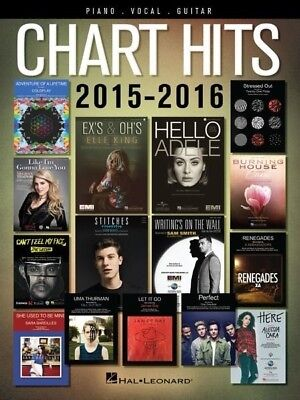 Chart Hits 2015 - 2016 PVG Book *NEW* Sheet Music Piano Vocal Guitar