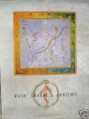 "Rush ""snakes & Arrows"" U.s. Promo Poster - Canadian Hard, Heavy Metal Music!"