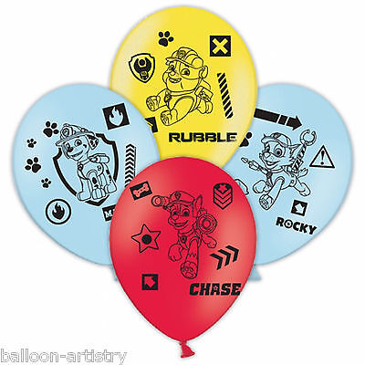6 Paw Patrol Puppy Pets Children's Birthday Party Printed Latex Balloons