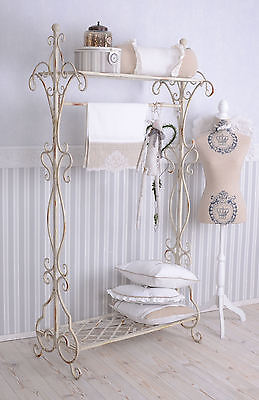 standgarderobe garderobe shabby chic garderobenst nder weiss metallst nder eur 159 99. Black Bedroom Furniture Sets. Home Design Ideas