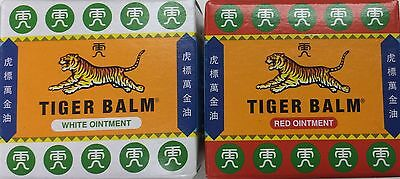 Duo Tiger Balm Red and White Ointment 19g x 2