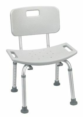 Drive Medical Deluxe Aluminum Bath Shower Seat with Removable Back Bathroom New