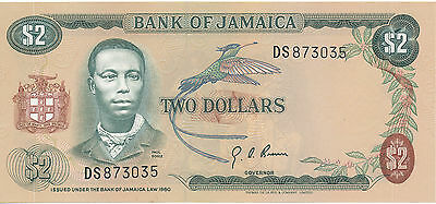 Jamaica - 2 Dollars 1960 aUNC - Pick 55
