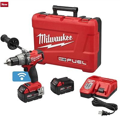 "MILWAUKEE 2706-22 M18 FUEL 1/2"" Hammer Drill/Driver w/ONE-KEY Kit & FREE T-SHIRT"