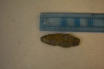 Archaic-Paleo flint Hand Scraper Spear point artifact Arenosa Texas NAA-337