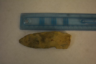 large Archaic-Paleo flint Hand Scraper Knife artifact Arenosa Texas NAA-329