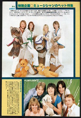 1978 ABBA & teddy bears / Flintlock vintage JAPAN mag photo pinup /clipping a9m