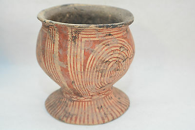 SHANG DYNASTY, Chinese Flared footed Pottery Vessel 1600-1100 B.C.