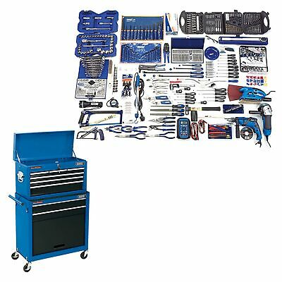 Draper Workshop Professional Tool Kit & Combined Roller Cabinet Chest - 53257