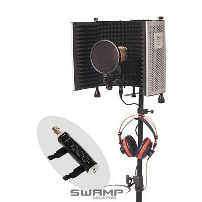Home Studio Vocal Recording Package - iSK RF-5 Vocal Booth + USB Interface