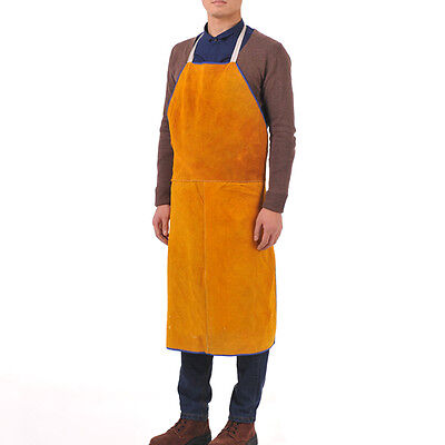 "28"" W x 39"" L Leather Bib Welding Apron Heat insulation protection Safety apron"