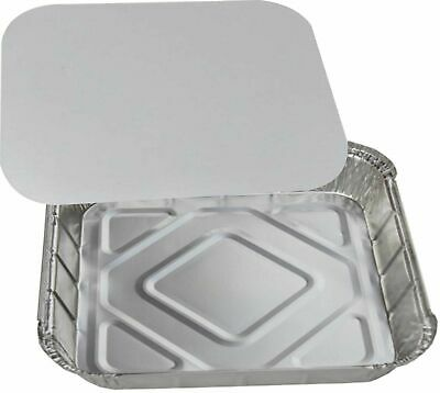 Large Aluminium Catering Foil Food Storage Take Away Containers with Lids No9