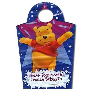 8 Winnie The Pooh Shaped Party Bags - (Blue Stars) For Presents & Treats (Lotus)