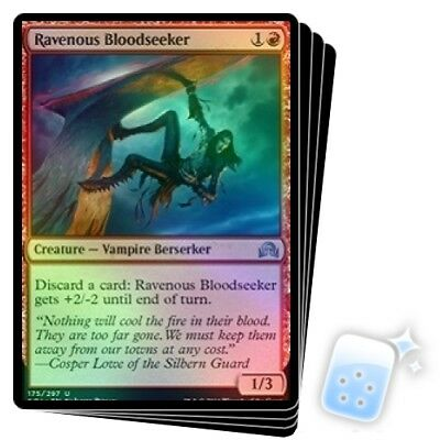 4 Ravenous Bloodseeker ~ Red Shadows over Innistrad Mtg Magic Uncommon 4x x4