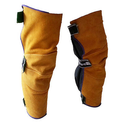 Leather Leg warmers Welding Heat insulation Protection Safety Leggings Gaiters