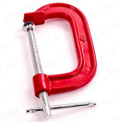 """4"""" LARGE HEAVY DUTY G CLAMP Precision Clamping C Grip Holder Clasp Vice Metal"""
