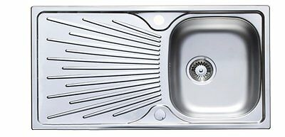 Astracast Sunrise 965 x 500mm Stainless Steel Single Bowl Kitchen Sink + Wastes