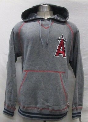 Los Angeles Angels Men M L XL 2XL Pullover Hooded Sweatshirt MLB Stitches A13TLF