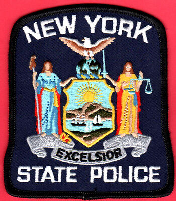 "New York State Police Shoulder Patch -- 3-7/8"" x 4"""