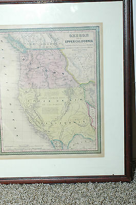 Oregon and Upper California. Published by S. Augustus Mitchell, 1847 ORIGINAL