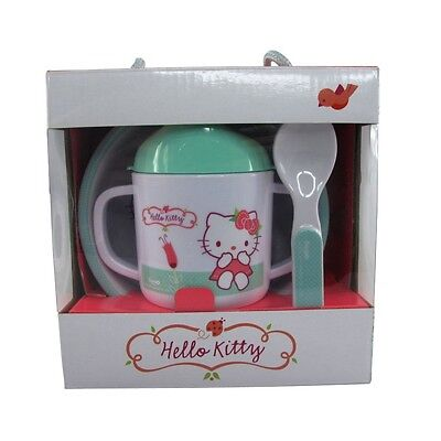 Hello Kitty - 3 Piece Nursery Baby Childs Mealtime Dinner Set