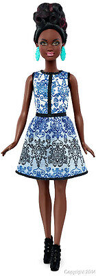 Barbie Fashionistas BLUE BROCADE Petite AA Doll New! IN STOCK NOW!