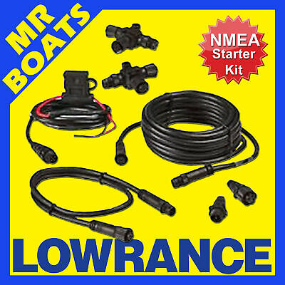LOWRANCE - NMEA 2000 Network Starter Kit - Suits HDS Models 124-69  FREE POSTAGE