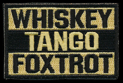Whiskey Tango Foxtrot Tactical Morale Wtf Hook Patch