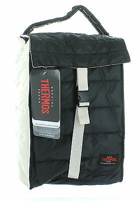Thermos Black/White Insulated Lunch Bag Soft Cooler Peva Lining