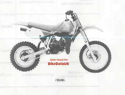 Genuine Honda CR80R 1990 Fully Illustrated Parts List Catalogue CR 80 R RL HE04